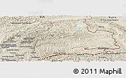 Shaded Relief Panoramic Map of Gorno-Badakhshan