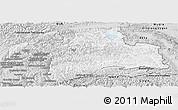 Silver Style Panoramic Map of Gorno-Badakhshan