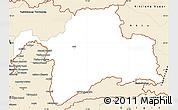 Classic Style Simple Map of Gorno-Badakhshan