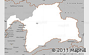 Gray Simple Map of Gorno-Badakhshan