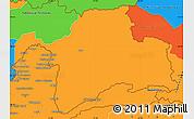 Political Simple Map of Gorno-Badakhshan