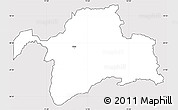 Silver Style Simple Map of Gorno-Badakhshan, cropped outside