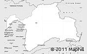 Silver Style Simple Map of Gorno-Badakhshan
