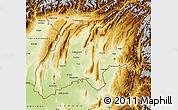 Physical Map of Khatlon