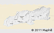 Classic Style Panoramic Map of Khatlon, single color outside