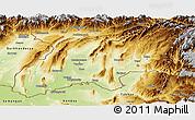 Physical Panoramic Map of Khatlon