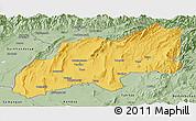 Savanna Style Panoramic Map of Khatlon