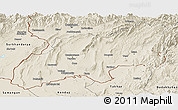 Shaded Relief Panoramic Map of Khatlon