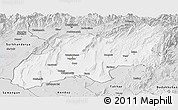 Silver Style Panoramic Map of Khatlon