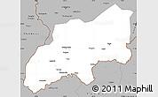 Gray Simple Map of Khatlon