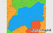 Political Simple Map of Khatlon