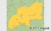 Savanna Style Simple Map of Khatlon