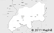 Silver Style Simple Map of Khatlon