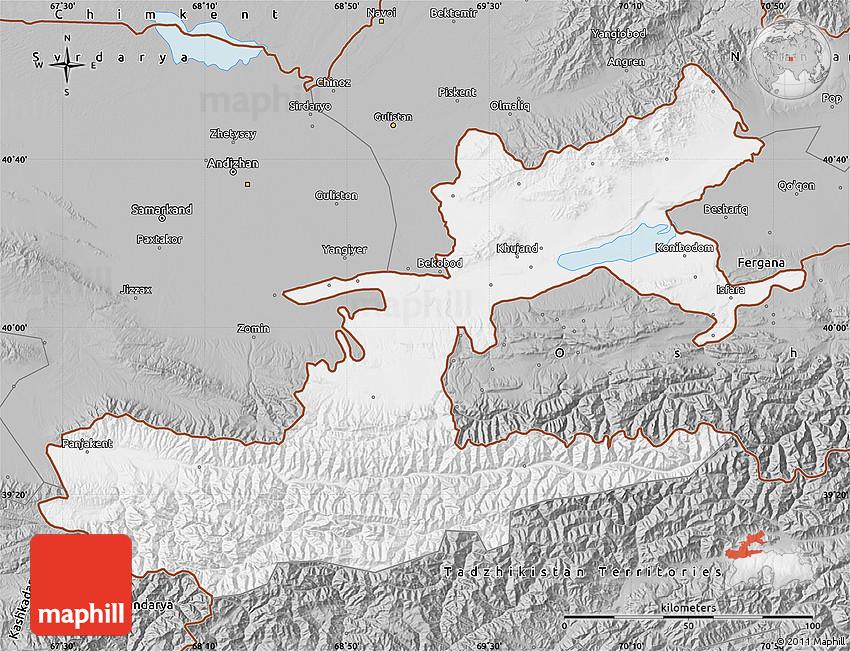 Gray Map of Leninabad