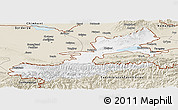 Classic Style Panoramic Map of Leninabad
