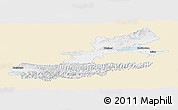 Classic Style Panoramic Map of Leninabad, single color outside