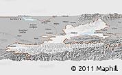 Gray Panoramic Map of Leninabad
