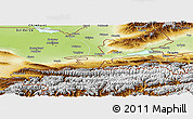 Physical Panoramic Map of Leninabad