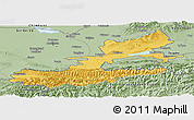 Savanna Style Panoramic Map of Leninabad