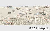 Shaded Relief Panoramic Map of Leninabad