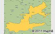 Savanna Style Simple Map of Leninabad