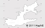 Silver Style Simple Map of Leninabad, cropped outside