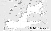 Silver Style Simple Map of Leninabad
