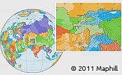 Savanna Style Location Map of Tajikistan, political outside