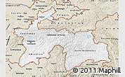 Classic Style Map of Tajikistan