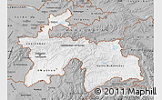 Gray Map of Tajikistan