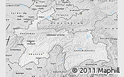 Silver Style Map of Tajikistan