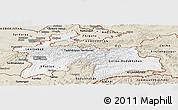 Classic Style Panoramic Map of Tajikistan