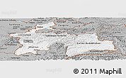 Gray Panoramic Map of Tajikistan