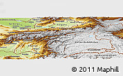 Physical Panoramic Map of Tajikistan