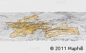 Satellite Panoramic Map of Tajikistan, lighten, desaturated