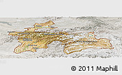 Satellite Panoramic Map of Tajikistan, lighten, semi-desaturated