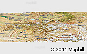 Satellite Panoramic Map of Tajikistan