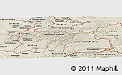 Shaded Relief Panoramic Map of Tajikistan