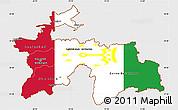 Flag Simple Map of Tajikistan, single color outside, flag rotated