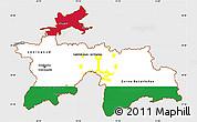 Flag Simple Map of Tajikistan, single color outside