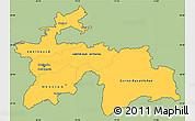 Savanna Style Simple Map of Tajikistan, cropped outside