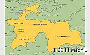 Savanna Style Simple Map of Tajikistan