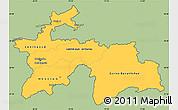 Savanna Style Simple Map of Tajikistan, single color outside