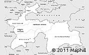 Silver Style Simple Map of Tajikistan