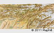 Satellite 3D Map of Tadzhikistan Territories