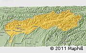Savanna Style 3D Map of Tadzhikistan Territories