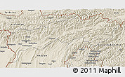 Shaded Relief 3D Map of Tadzhikistan Territories
