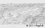 Silver Style 3D Map of Tadzhikistan Territories