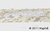 Classic Style Panoramic Map of Tadzhikistan Territories