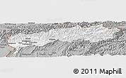 Gray Panoramic Map of Tadzhikistan Territories